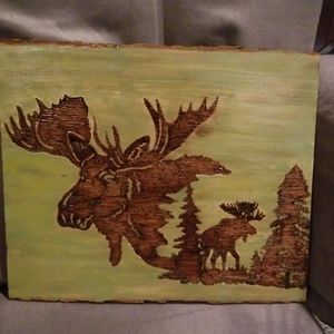 Woodburned plaque